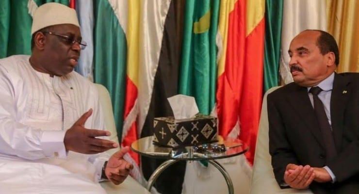 الرئيسان الموريتاني والسنغالي خلال مباحثات رسمية - أرشيف