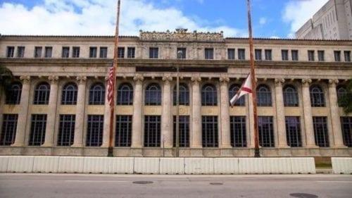 محكمة ميامي التي سبق أن مثل أمامها رجل الأعمال المالي (المبنى مغلق منذ فترة)