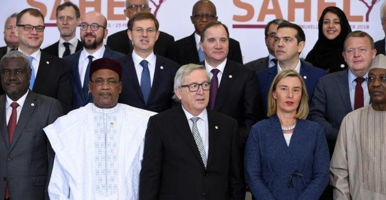 نتيجة بحث الصور عن قمة بروكسيل تجمع 414 مليون يورو لمحاربة الإرهاب في الساحل الأفريقي