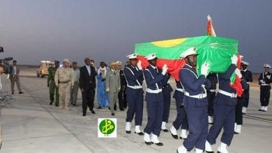 Photo of موريتانيا تستقبل جثمان أحد عسكرييها من إفريقيا الوسطي