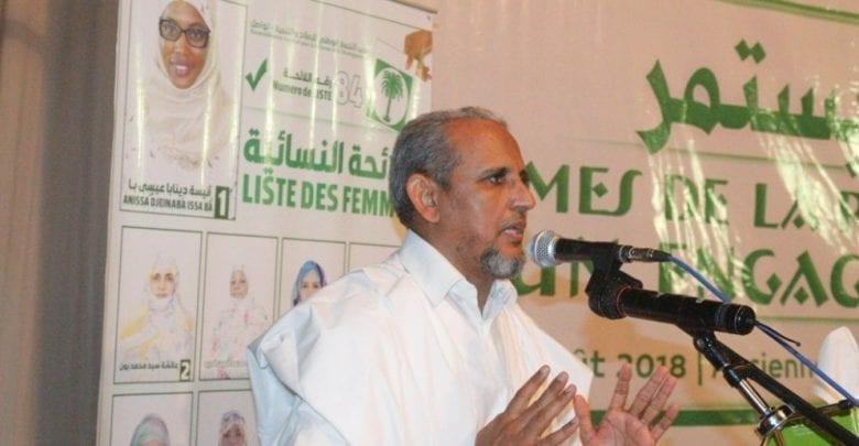 محمد محمود ولد سيدي، رئيس حزب تواصل،