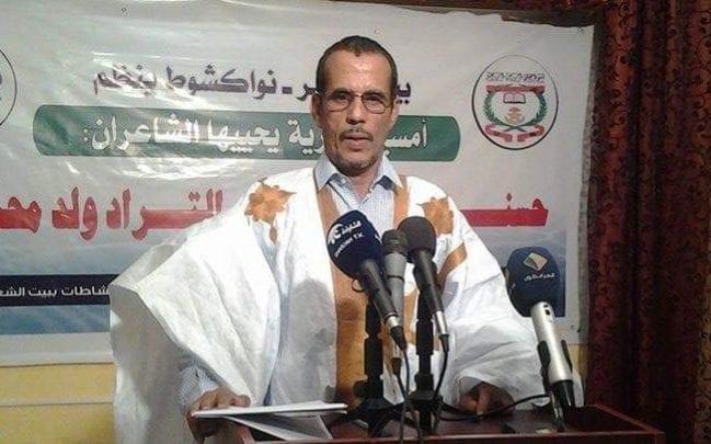 رئيس اتحاد الأدباء الجديد، الأديب حسني ولد شاش